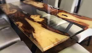 Exklusiver Tisch Aus Epoxidharz Und Massivholz Naturnah Möbel