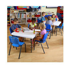 lifetime children s combo 29 commercial grade table 4 stack chairs blue