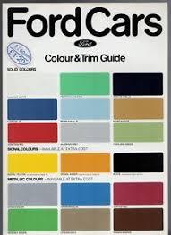 Details About Ford Colour Trim 1978 Uk Market Foldout Brochure Fiesta Escort Cortina Capri