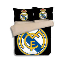 2017 new real madrid pattern bedding set 2pc 3pc duvet cover pillowcase twin queen 2