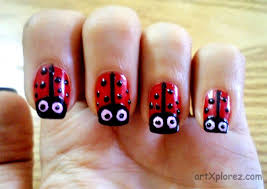 Lady Bird Nail Art Design | artXplorez