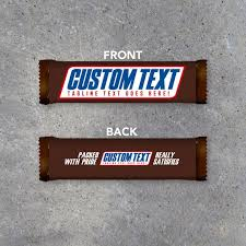 chocolate bar wrappers snickers custom text printable candy bar wrapper with your etsy