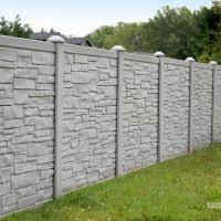 vinyl fencing. Perfect Fencing SimTek EcoStone  Simulated Stone Vinyl Fencing For N