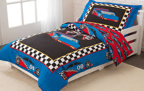 race car toddler bedding set