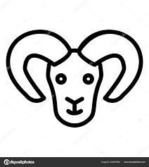 Znamení Zvěrokruhu Beran Tetování Stock Vektor Prosymbols 222907582