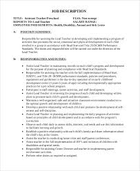 Preschool Teacher Assistant Job Description Resume Wonderful With