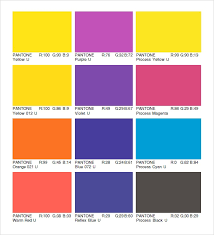 Free 8 Sample Pantone Color Charts In Word Pdf