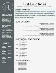 Modern Resume Fonts