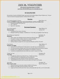 Volunteer Experience On Resume Examples New Volunteer Resume Sample