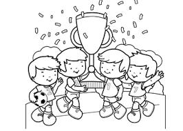 Kleurplaat Voetbal