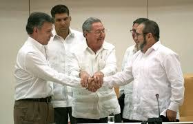 Resultado de imagen para FOTO DE ACUERDOS CON LA FARC EN LA HABANA