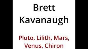 Brett Kavanaugh Profile Pluto Lilith Mars Venus Chiron By Tom Jacobs