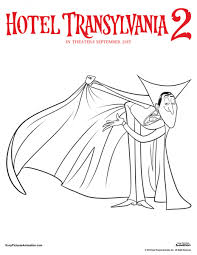 Dracula Hotel Transylvania 2 Coloring Page