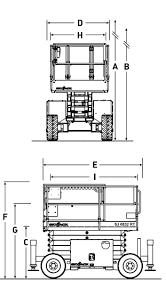skyjack sj 6826 6832 rt platform s skyjack sj6826 sj6832 reach diagram