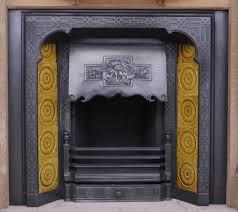 original victorian cast iron insert image