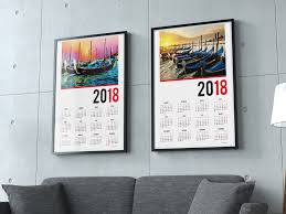 Small Picture 2018 calendar one page template yearly printable poster photo calendar