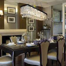 astonishing beautiful rectangular dining room light modern linear on crystal chandeliers