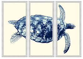 navy sea turtle triptych framed wall art on navy blue and teal wall art with the well appointed house luxuries for the home the well