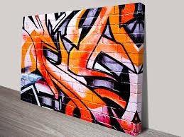 orange abstract graffiti canvas print colourful orange graffiti wall art