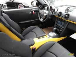 Black Interior 2012 Porsche Cayman R Photo #54226980 | GTCarLot.com