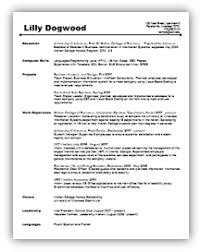 undergrad resumes