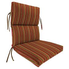 high back outdoor chair cushion for patio striped block