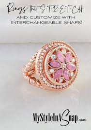 radiant stretch ring change the look in seconds with interchangeable jewelry snaps es in
