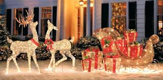 outdoor reindeer decorations for a more classic looking winter wonderland display want to go all