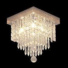 glighone crystal chandeliers ceiling lights modern chandelier ceiling light with gu10 4 lights glass crystal