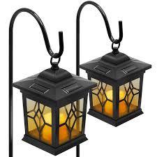 Shepard Lighting Amazon Com Sorbus Solar Flickering Lantern Lights With