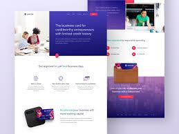 Business Homepage Design Wip Homepage Design For Innovative New Business Credit Card