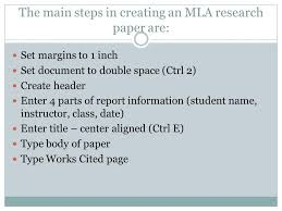 Margins for a research paper