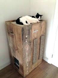furniture cat litter box cat litter box furniture cabinet meow town regarding cool boxes plan diy