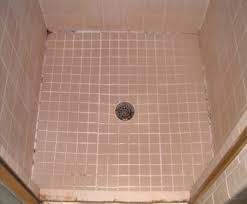 before picture of a ceramic tile shower floor with mold and soap s in gvine