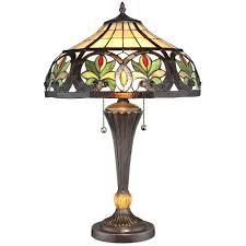 tiffany sunrise bronze table lamp