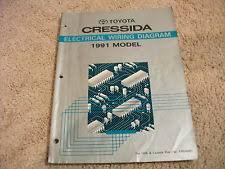 toyota cressida 1991 toyota cressida electrical wiring diagrams manual oem