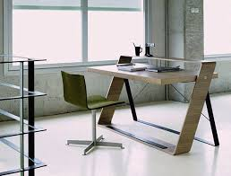 Ergonomic black glass office desk