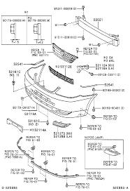 TOYOTA COROLLAZZE122R-GEPNKN - BODY - FRONT BUMPER BUMPER STAY ...
