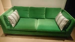 three seat velvet sofa stockholm ikea sandbacka green bargain negotiable