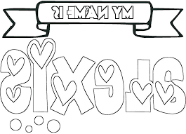 Make Your Own Coloring Pages With Your Name On It Xflt Make Your Own