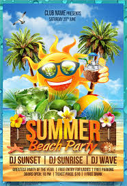 Summer Party Flyers Tropic Beach Summer Party Flyer Template 9 Summer Party Flyers Psd