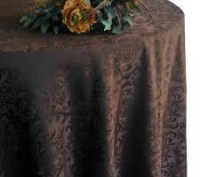 120 round jacquard damask polyester tablecloth chocolate 96691 1pc pk