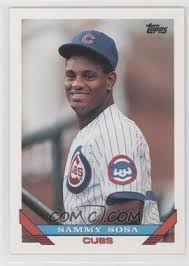 The most expensive sosa rookie card is the 1990 bowman tiffany card, which will cost anywhere between several hundred dollars to several thousand dollars, depending on the quality of the card. 1993 Topps Base 156 Sammy Sosa