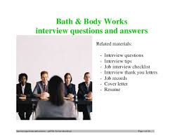 bath and body works customer service bath body works interview questions and answers