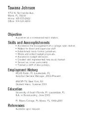 Sample Resume College Student No Experience Resume With No
