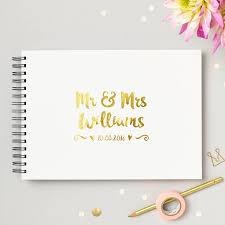 Wedding Guest Book Personalised Mr And Mrs Wedding Guest Book