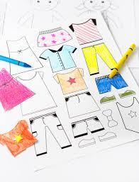 It's economical and allows for your kids to add their own dash of creativity as they design the clothes and the dolls. Color Your Own Printable Paper Dolls Design Eat Repeat