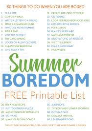 Grab This Printable List Of 60 Things To Do When Youre Bored When