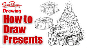 christmas tree with presents drawing. Beautiful Christmas How To Draw Christmas Presents For Tree With Presents Drawing T