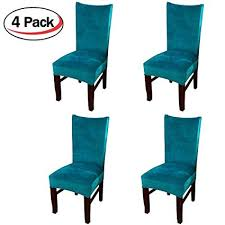 smiry velvet stretch dining room chair covers soft removable dining chair slipcovers set of 4